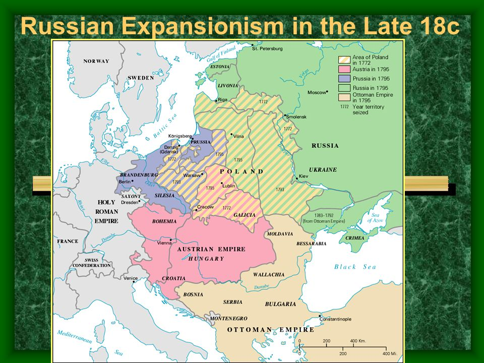 The Partitions of Poland - 1772 - 1793 - 1795
