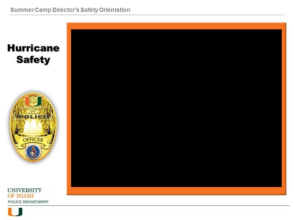 Summer Camp Director's Safety Orientation Hurricane Safety