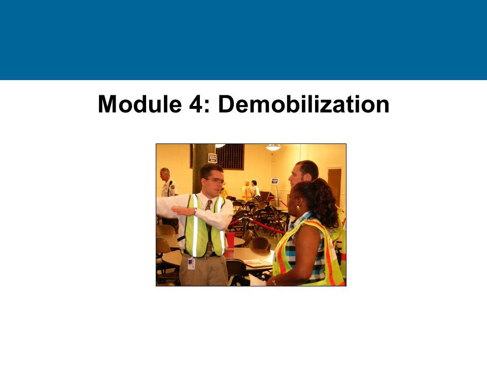 Module 4: Demobilization