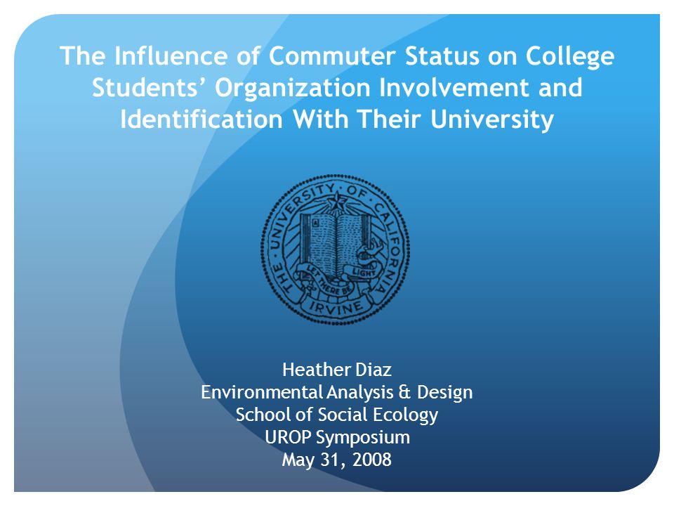 Rumor has it… UC Irvine is a commuter school.