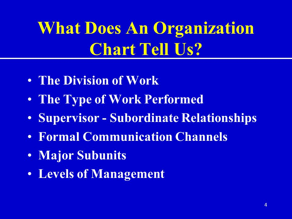 4 What Does An Organization Chart Tell Us.