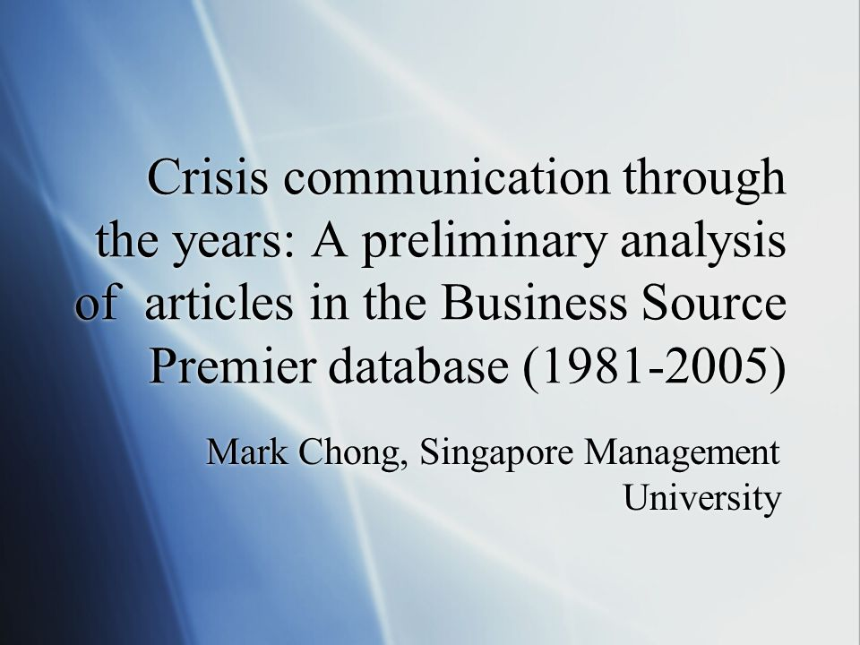 Results: Most cited articles  3a.'Helping crisis managers protect reputational assets'.