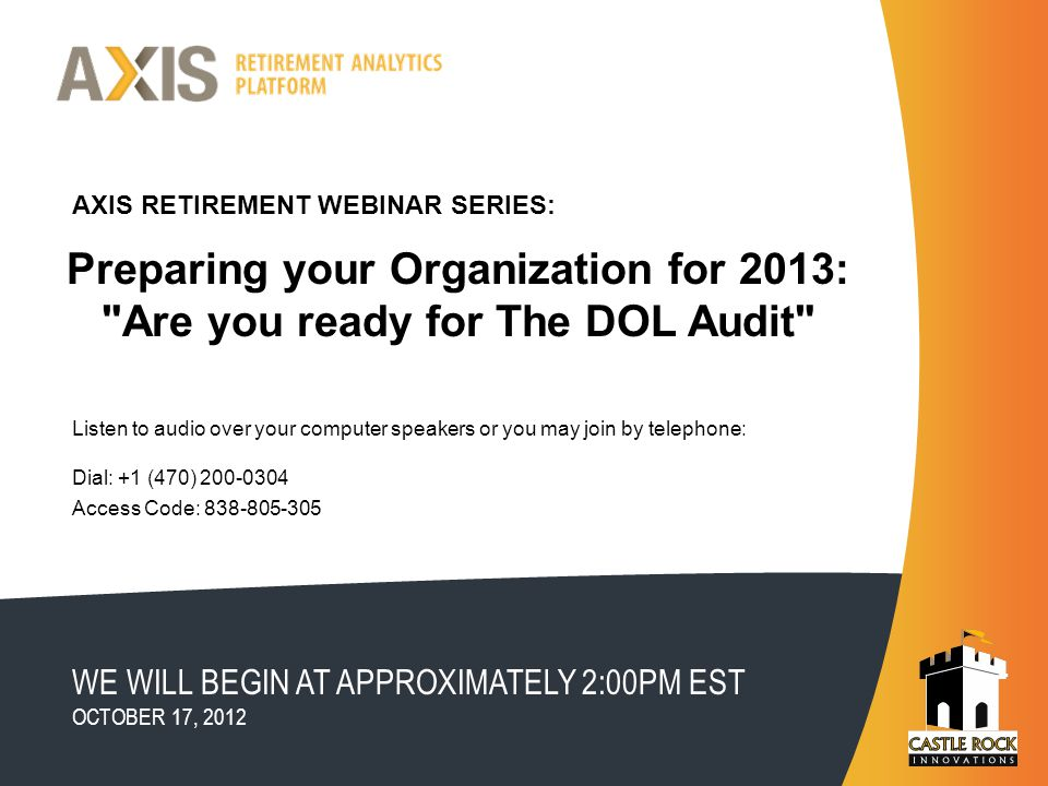 Preparing your Organization for 2013: