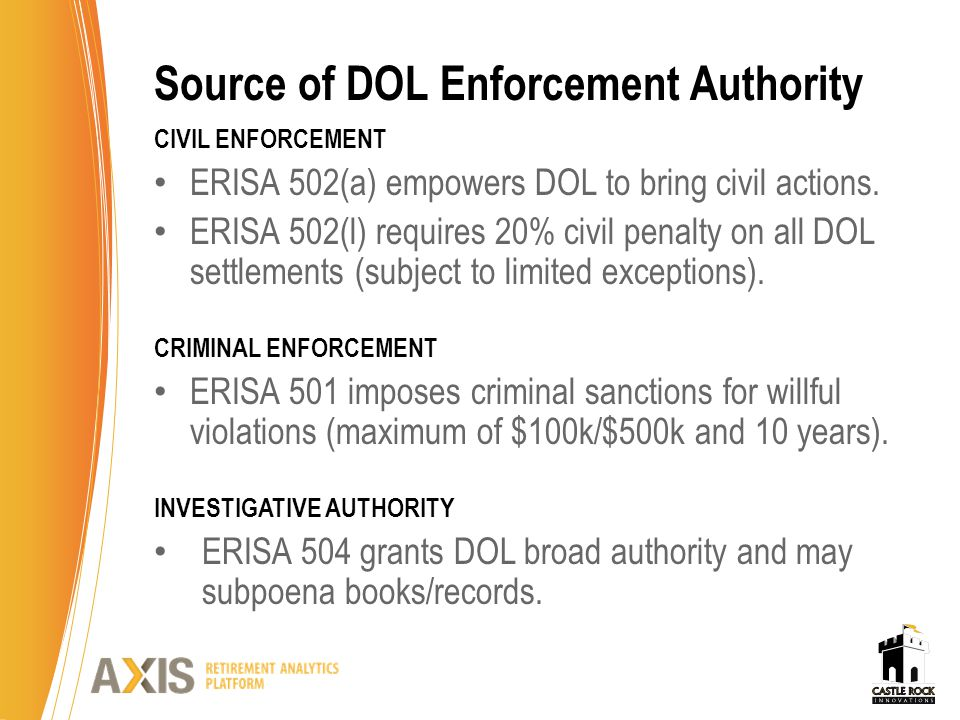 EBSA's National Enforcement Projects CONTRIBUTORY PLANS CRIMINAL PROJECT (CPCP) Targets employers and providers who commit fraud and abuse resulting in unpaid contributions to plans.