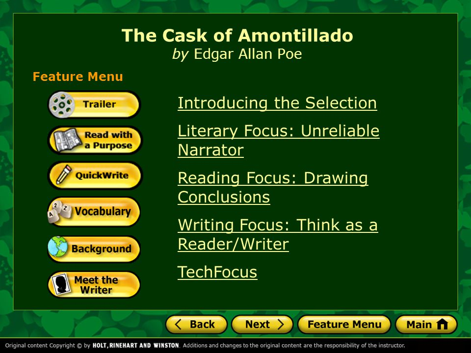 conclusion on the cask of amontillado