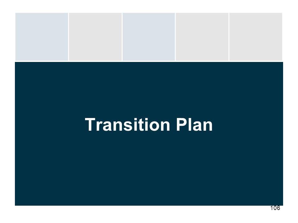 106 Transition Plan
