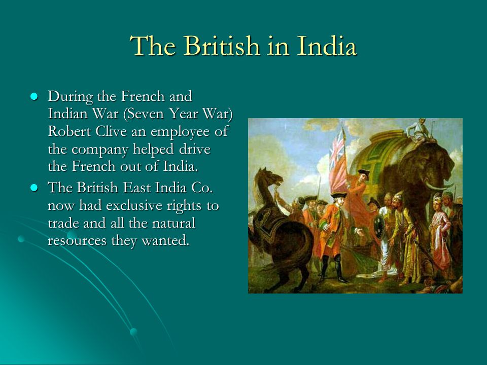 The British in India The direct British rule of India was called the Raj and lasted from 1757 to 1947 The direct British rule of India was called the Raj and lasted from 1757 to 1947 British soldiers and politicians held control over millions of Indians.