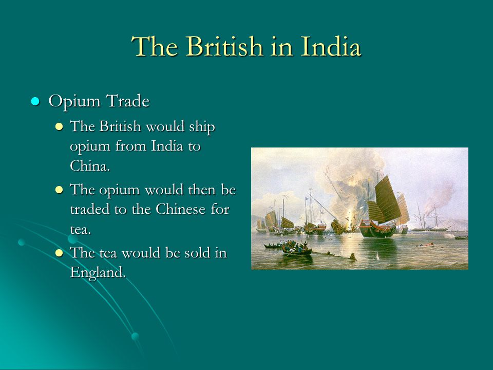 The British in India Results of Colonialism Results of Colonialism Britain only allowed India to produce raw goods and only buy British manufactured goods.