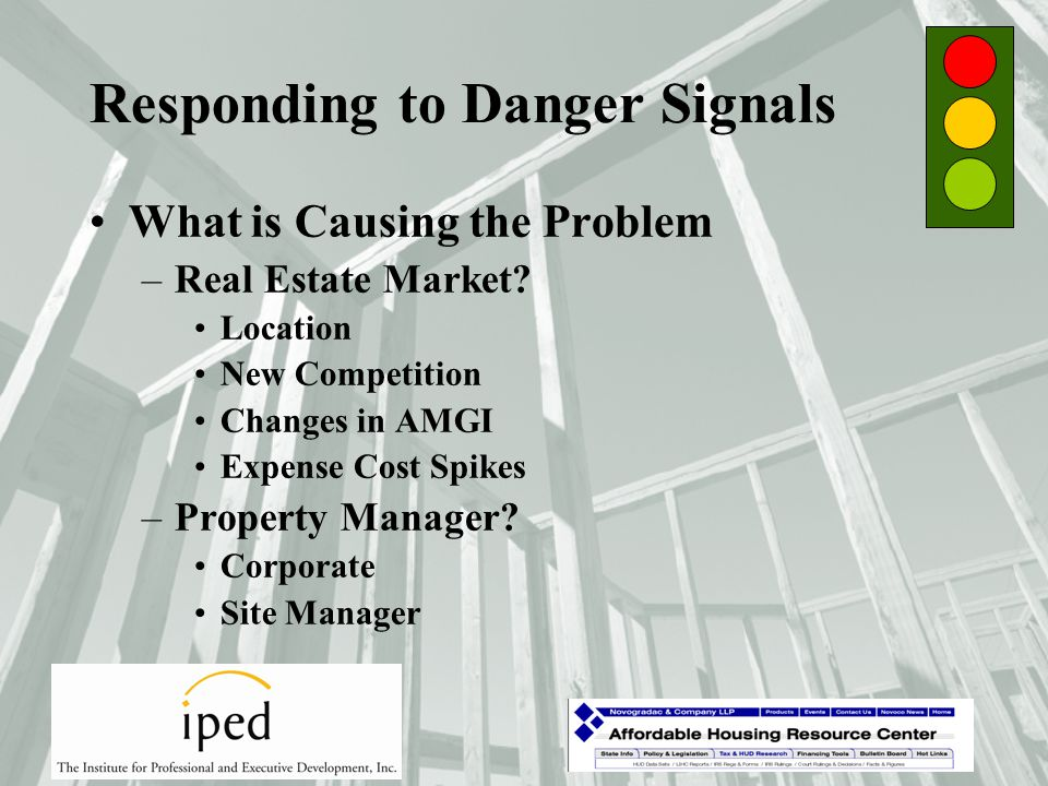 Consequences of Danger Signals Forms 8823 –Responding to State Housing Agencies –Responding to the Internal Revenue Service Mail Notices Field Audits