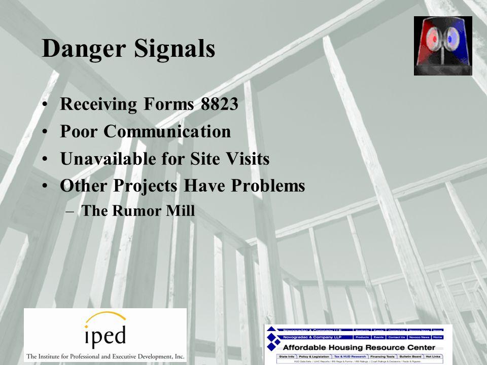 Danger Signals Higher Operating Expenses –Larger Operating Expenses –Missing Operating Expenses –Lower Operating Expenses.
