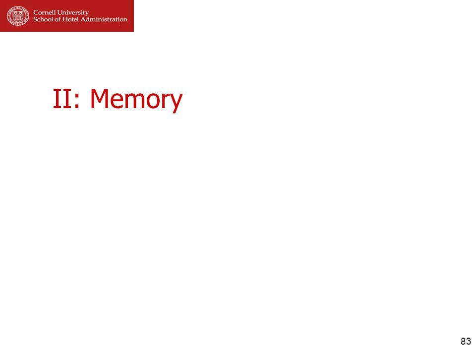 II: Memory 83