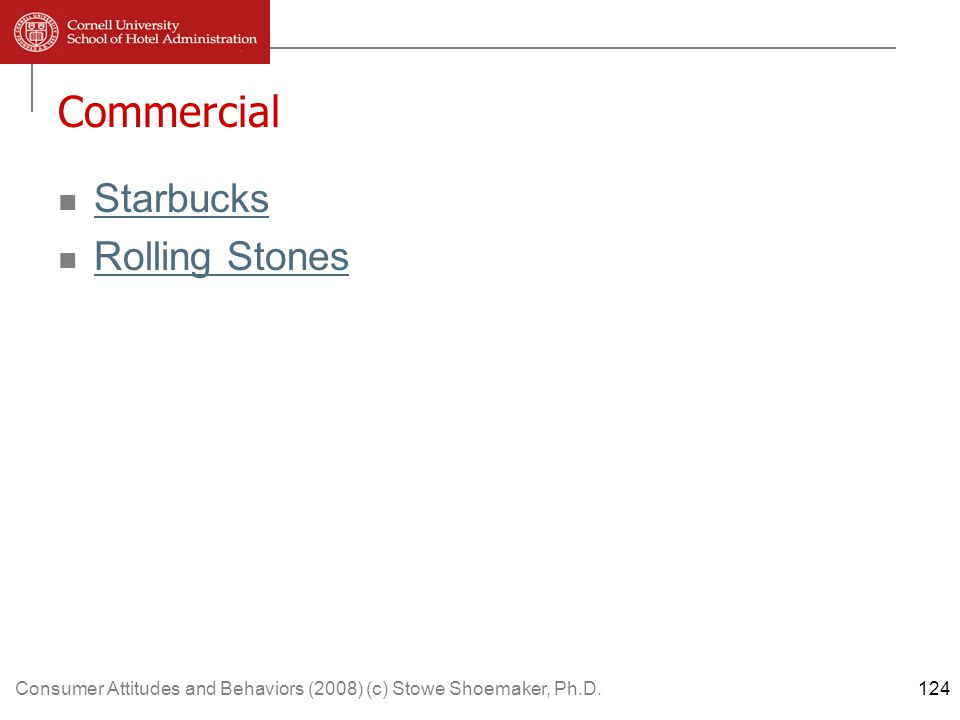 Consumer Attitudes and Behaviors (2008) (c) Stowe Shoemaker, Ph.D.