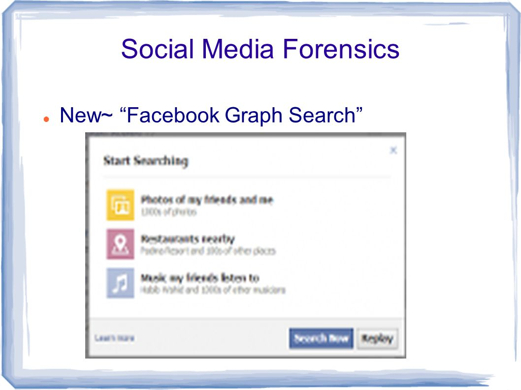 Social Media Forensics New~ Facebook Graph Search