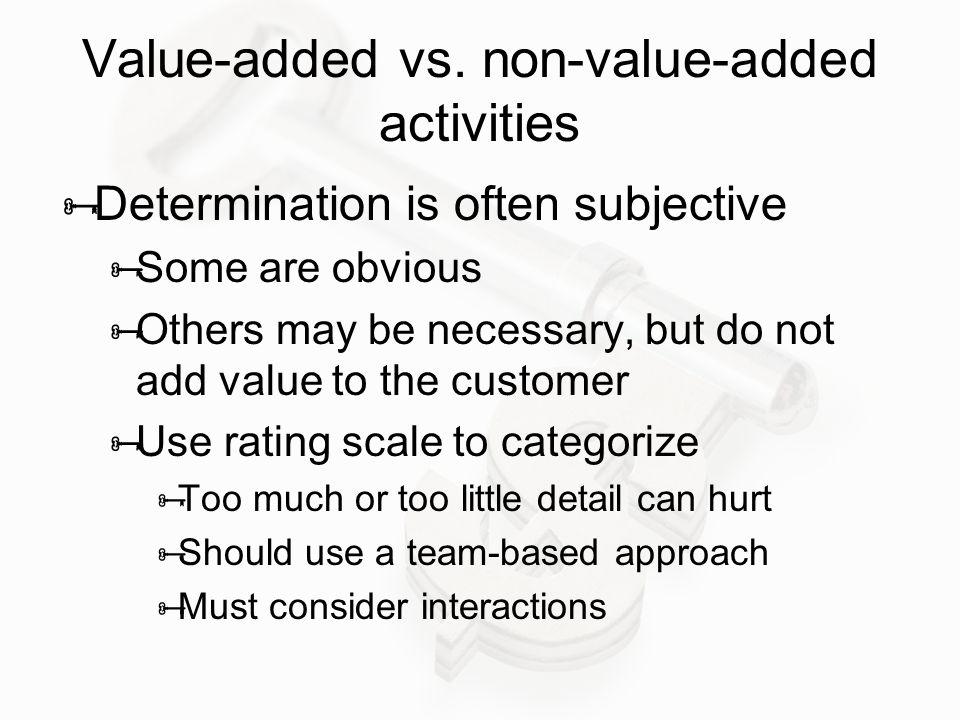 Value-added vs.