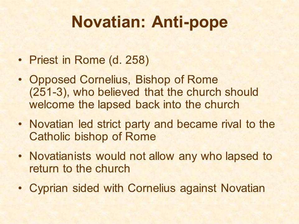 Novatian: Anti-pope Priest in Rome (d.