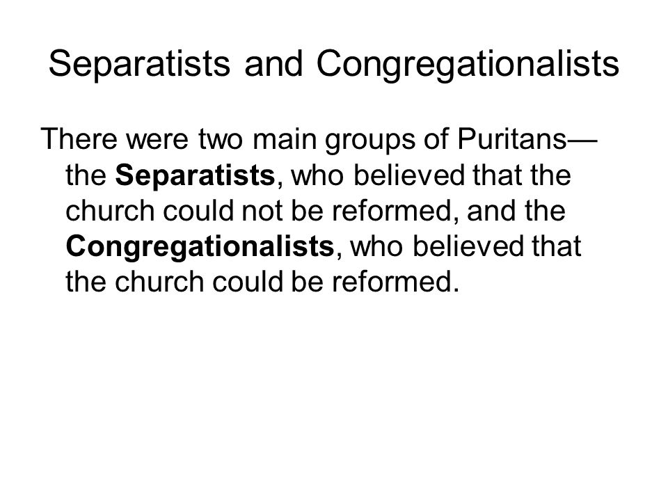 Puritan Ideas on the Structure of Communities The individual must accept his or her place in society.