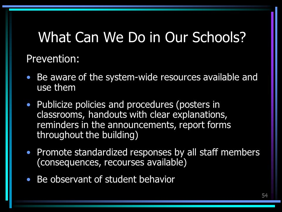 54 What Can We Do in Our Schools.