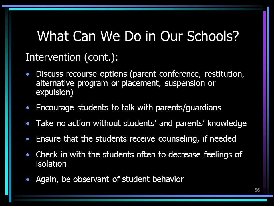56 What Can We Do in Our Schools.