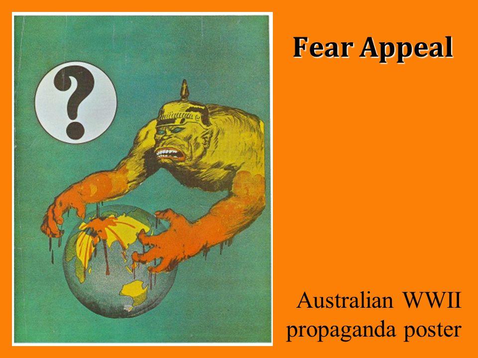 Fear Appeal Australian WWII propaganda poster
