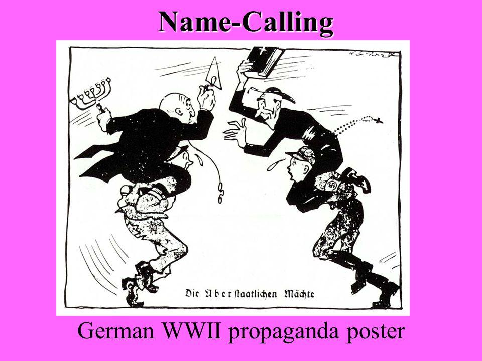 Name-Calling German WWII propaganda poster