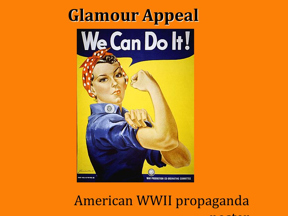 Glamour Appeal American WWII propaganda poster