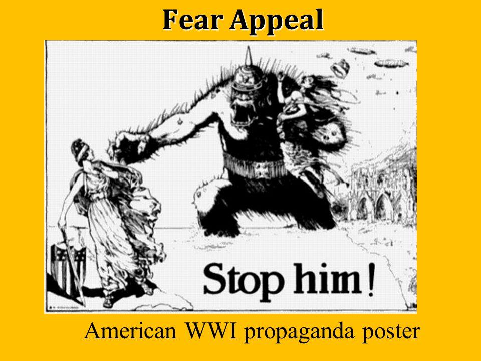 Fear Appeal American WWI propaganda poster