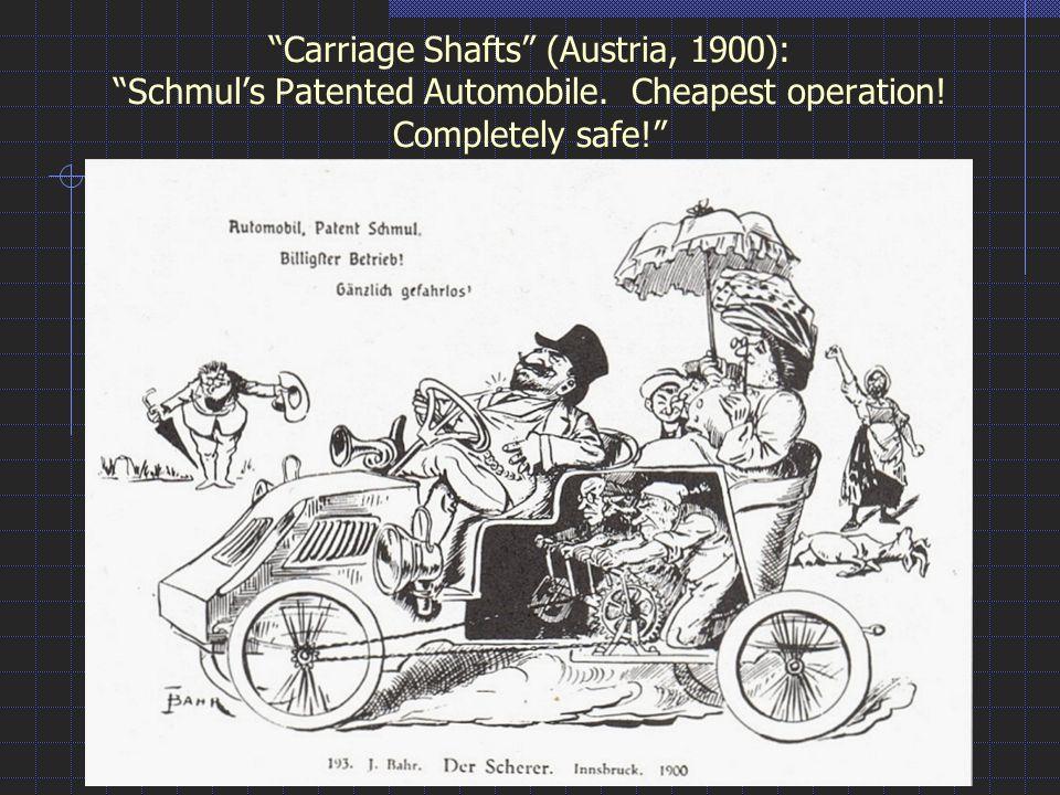 Carriage Shafts (Austria, 1900): Schmul's Patented Automobile.