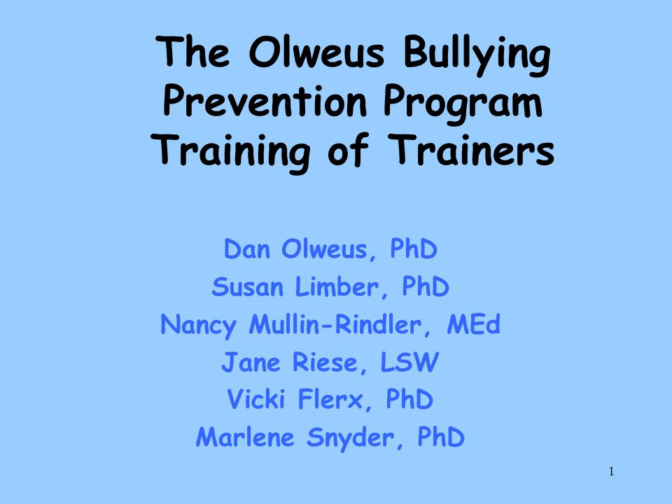 32 Children Who Bully Can Change Bullying behaviors and victimization experiences are relatively stable over time if there is no intervention.Bullying behaviors and victimization experiences are relatively stable over time if there is no intervention.
