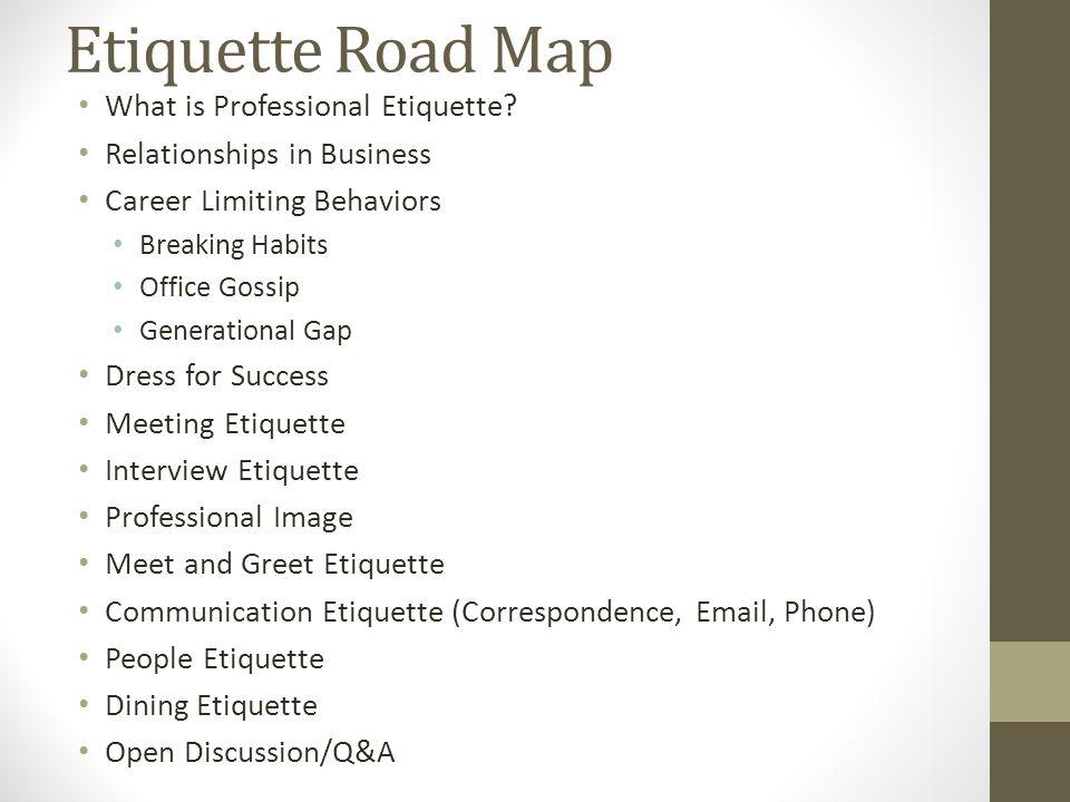 What is Professional Etiquette.