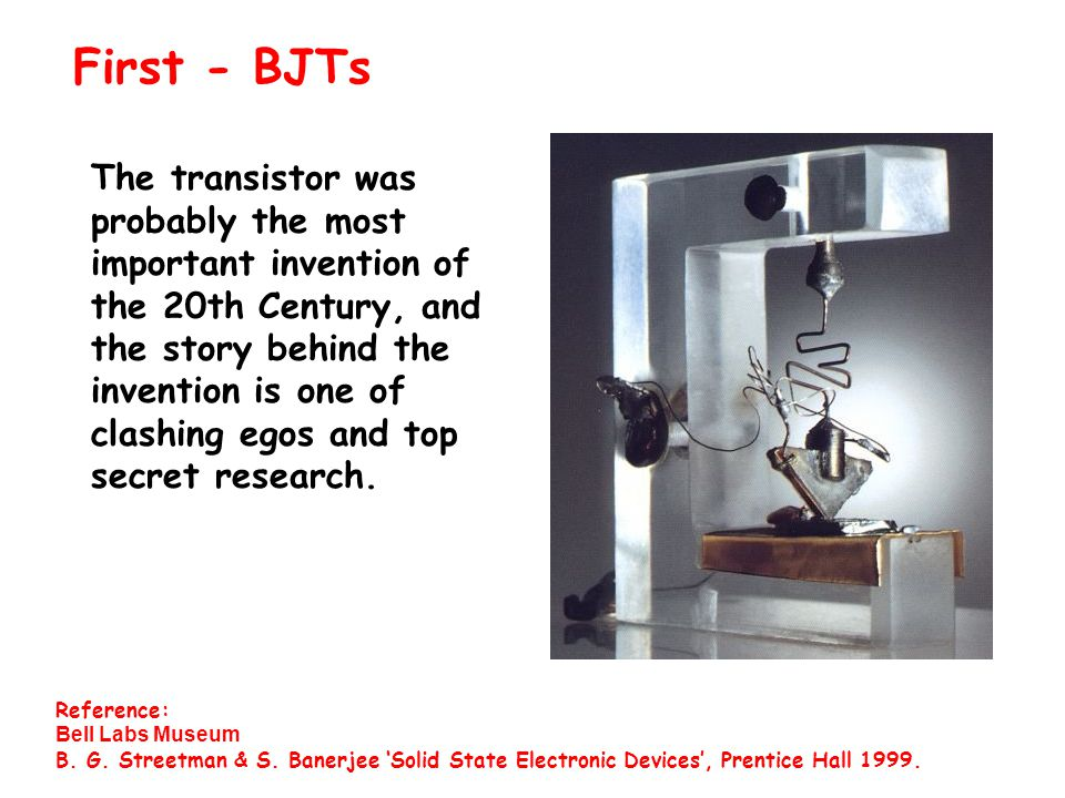 The transistor was probably the most important invention of the 20th Century, and the story behind the invention is one of clashing egos and top secret research.