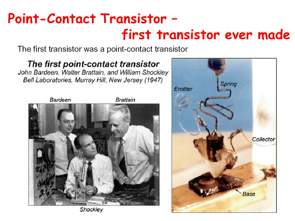 Point-Contact Transistor – first transistor ever made