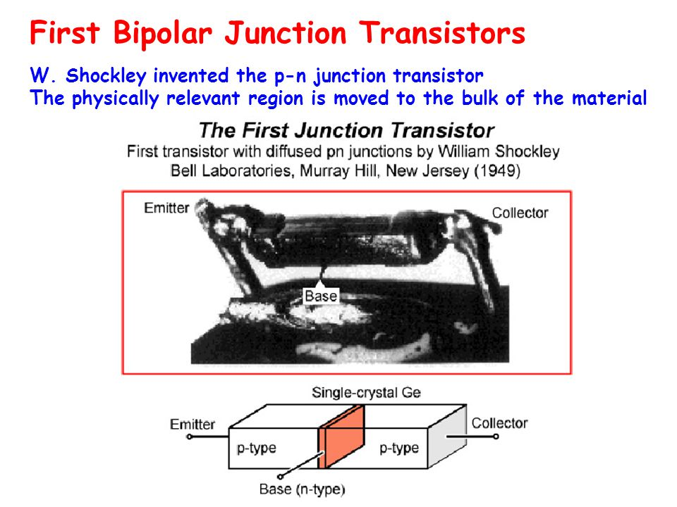 First Bipolar Junction Transistors W.