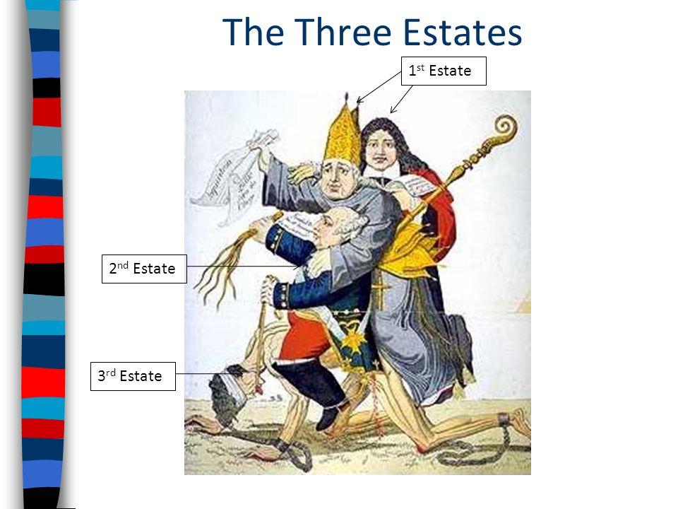 The Three Estates 3 rd Estate 2 nd Estate 1 st Estate