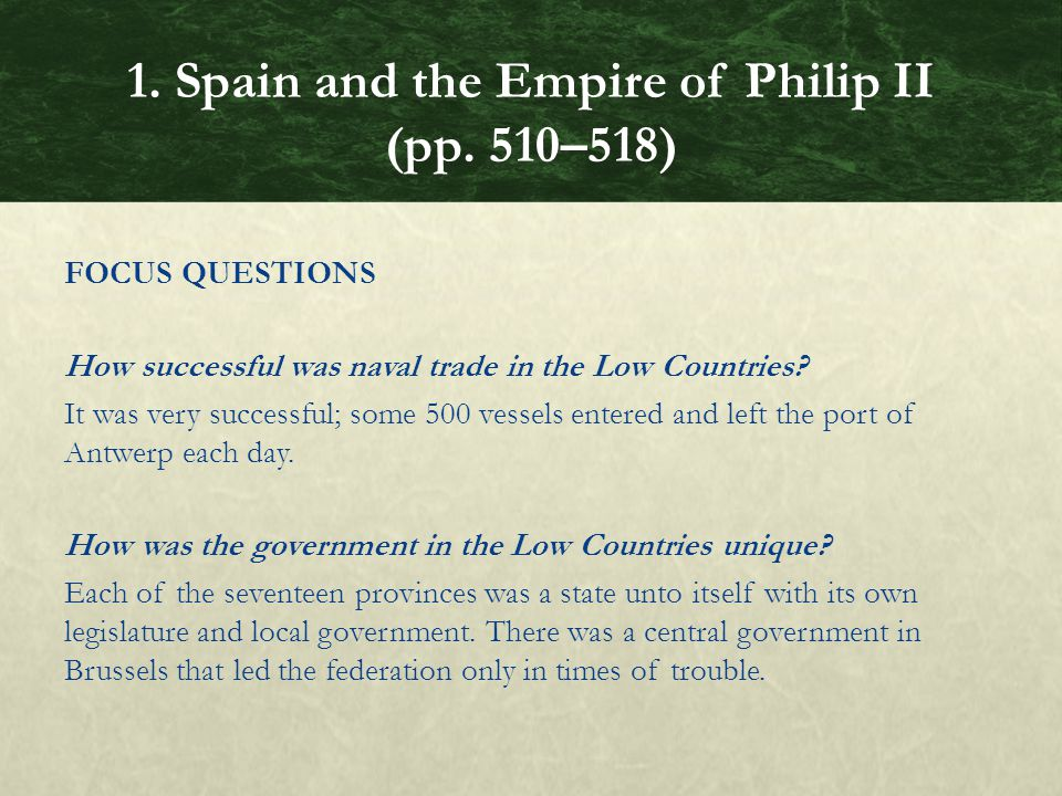FOCUS QUESTIONS How successful was naval trade in the Low Countries.