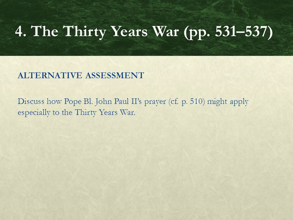 ALTERNATIVE ASSESSMENT Discuss how Pope Bl. John Paul II's prayer (cf.