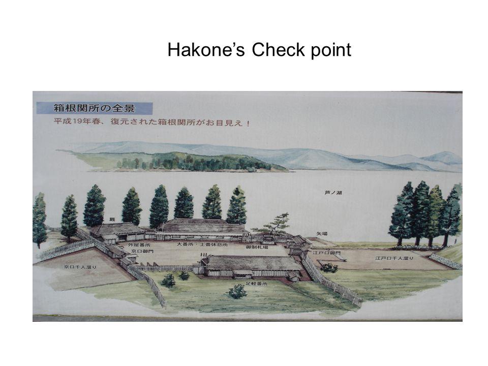 Hakone's Check point