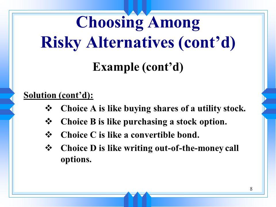 19 The Concept of Return u Measurable return u Expected return u Return on investment