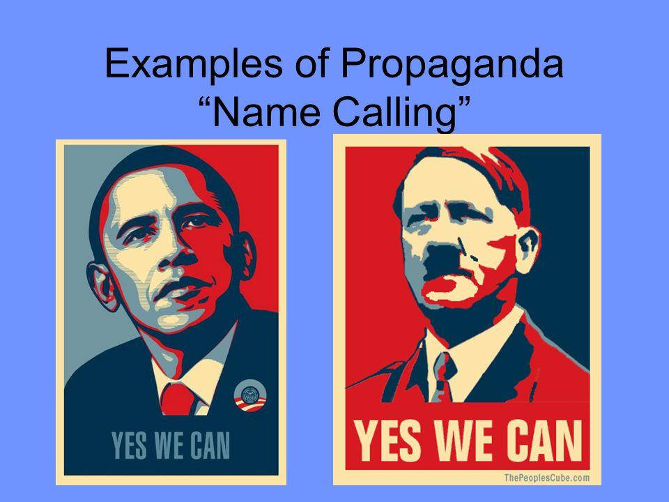 "Examples of Propaganda ""Name Calling"""