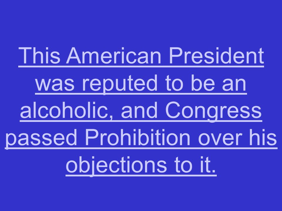 This act, more popularly known as Prohibition, was named after an individual—it was called the __________ Act.