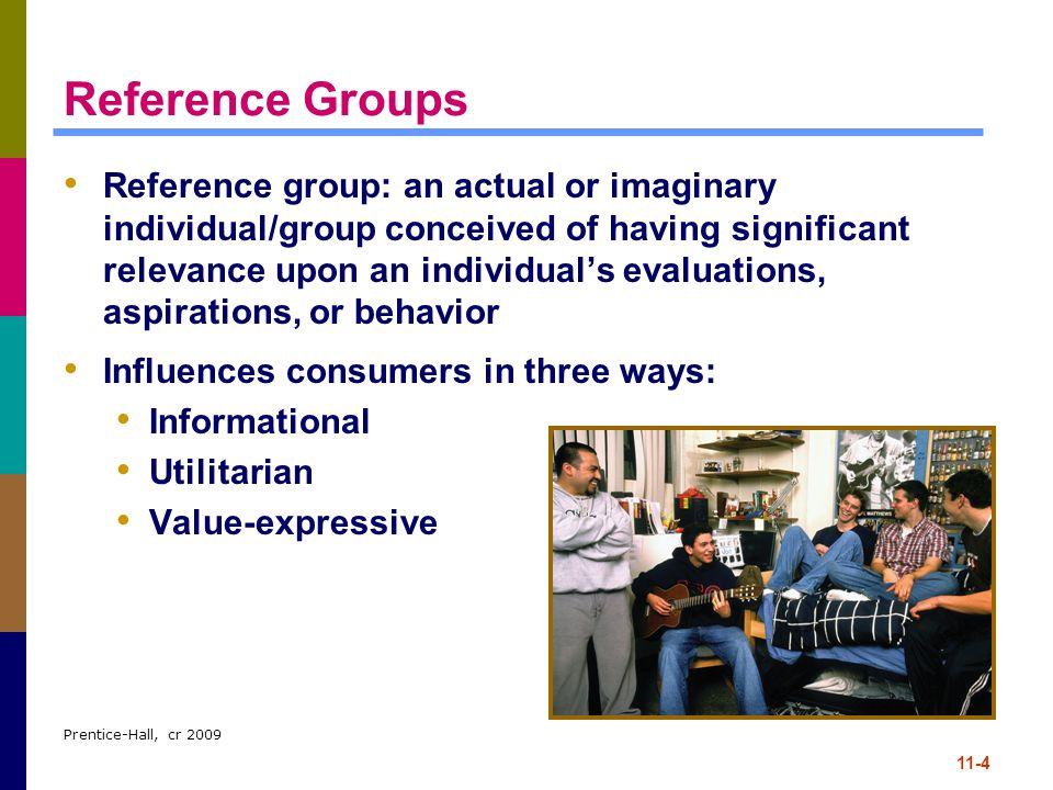 Prentice-Hall, cr 2009 11-35 Sociometric Methods Sociometric methods: trace communication patterns among group members Systematic map of group interactions Most precise method of identifying product- information sources, but is very difficult/expensive to implement Network analysis Referral behavior/network, tie strength Bridging function, strength of weak ties