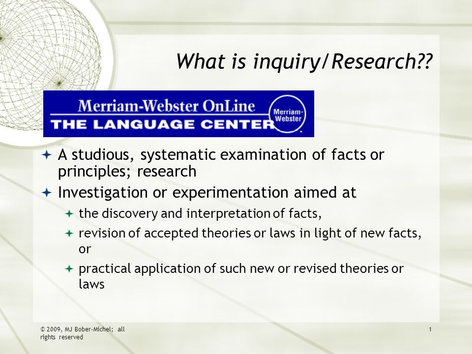 What is inquiry/Research .