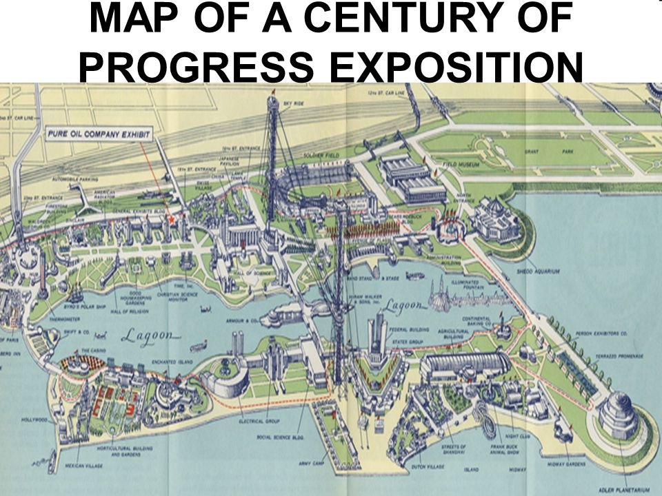 MAP OF A CENTURY OF PROGRESS EXPOSITION