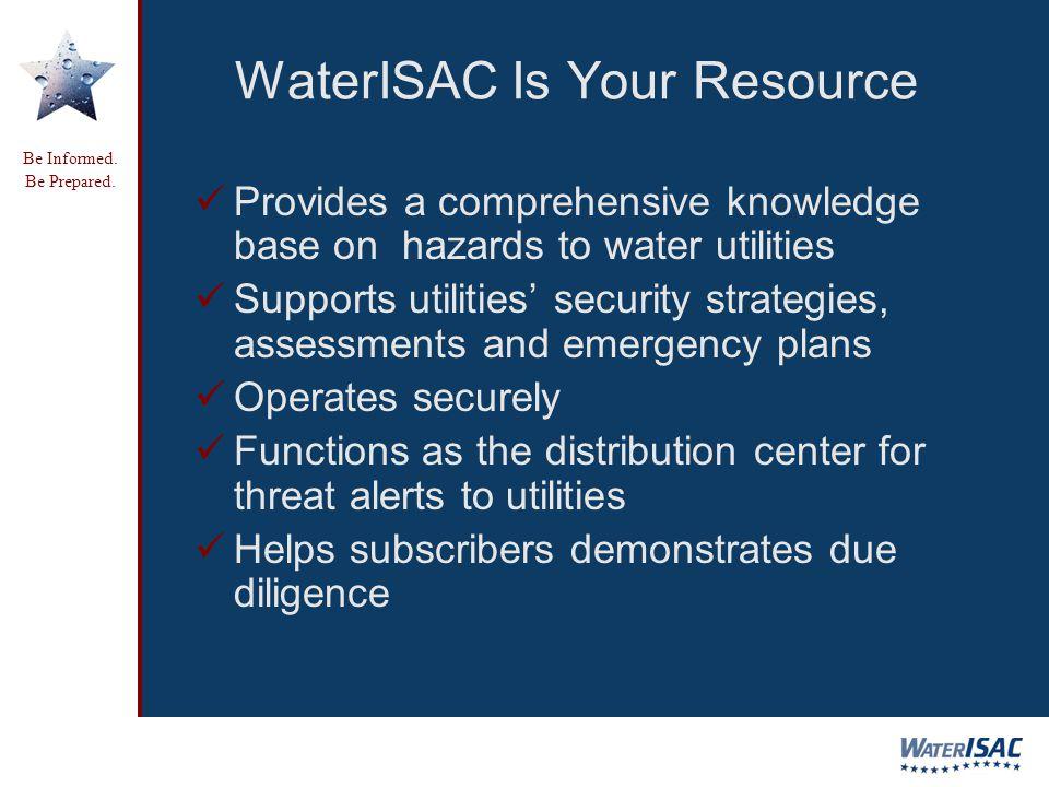 Be Informed. Be Prepared. Be Informed. Be Prepared.
