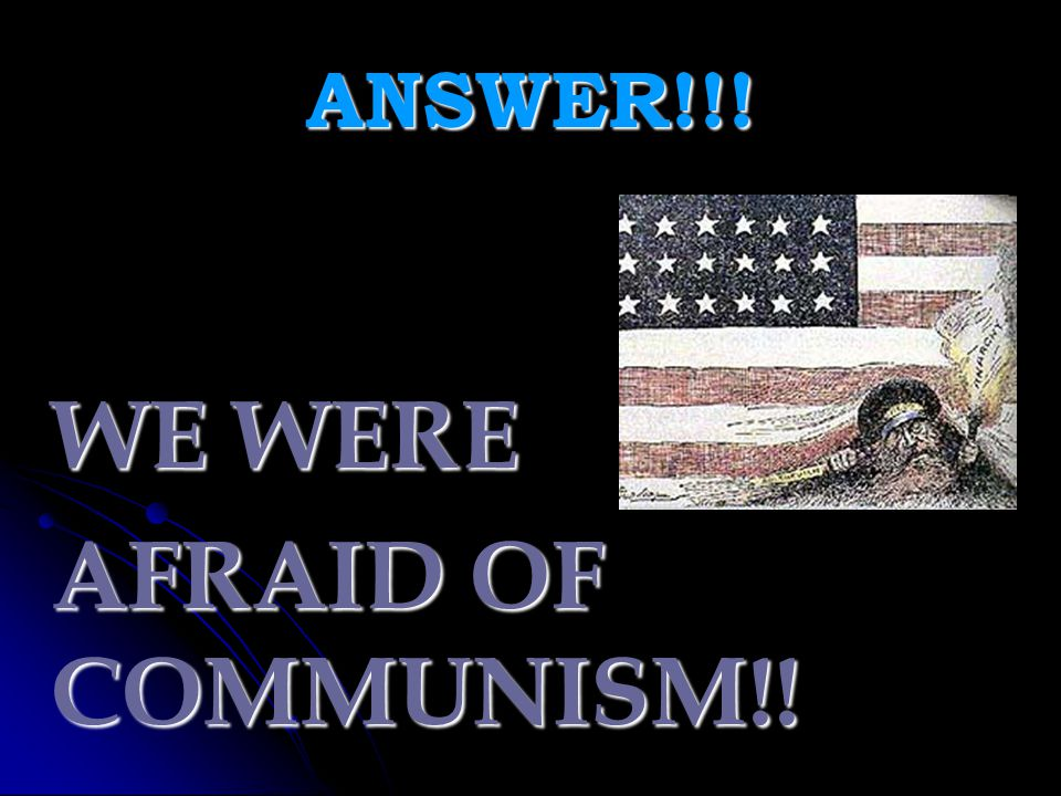ANSWER!!! THE REPUBLICANS.