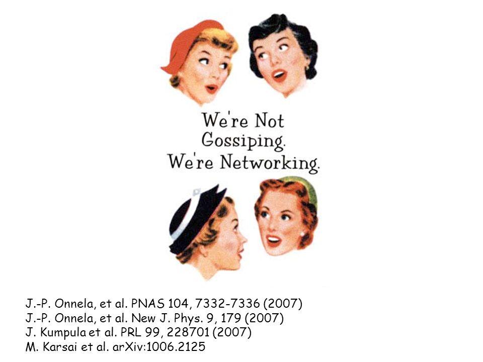 J.-P. Onnela, et al. PNAS 104, 7332-7336 (2007) J.-P.