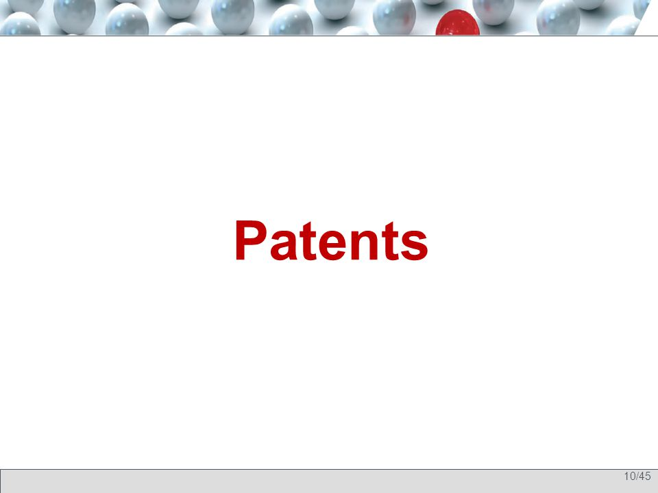 10/45 Patents