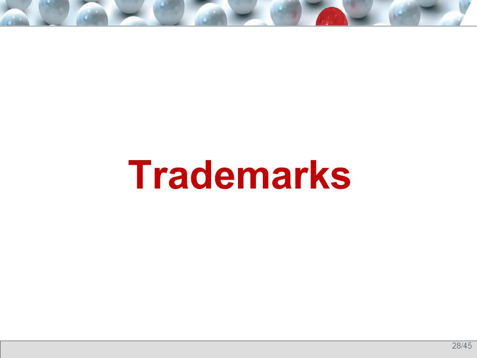 28/45 Trademarks