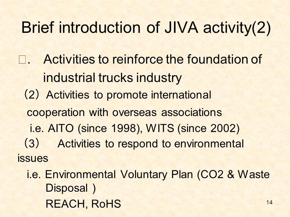 Brief introduction of JIVA activity(2) Ⅰ.