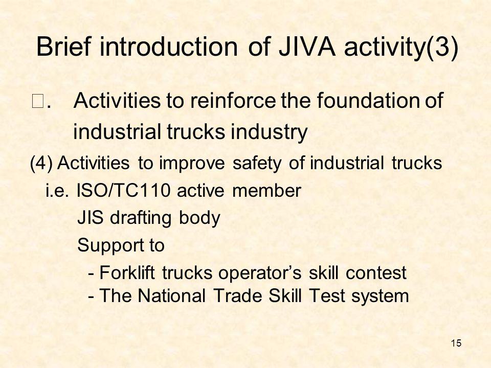 Brief introduction of JIVA activity(3) Ⅰ.