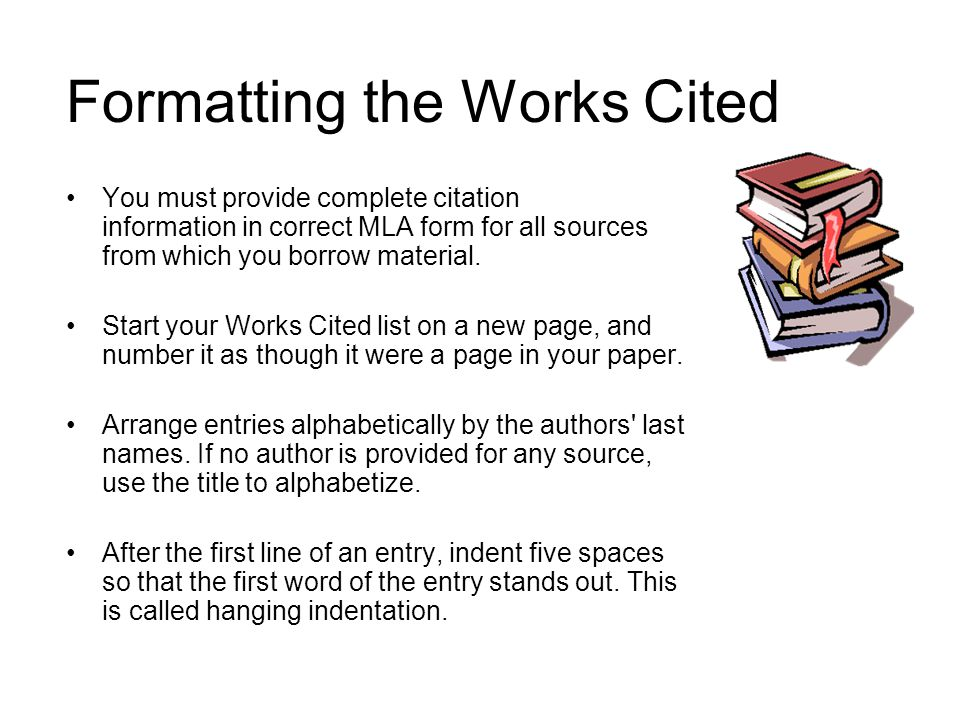 works cited in introduction of research paper